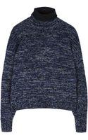Acne Studios Dedicate Wool Navy Roll Neck Jumper - Lyst