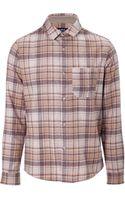 A.P.C. Plaid Wool Buttondown - Lyst