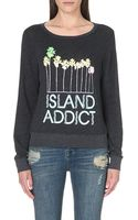 Wildfox Island Addict Sweatshirt Black - Lyst