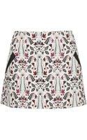 Topshop Petite Woodstock Jacquard Pelmet Skirt - Lyst