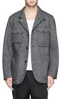 Nanamica Wool Blend Tweed Goretex Coat - Lyst