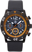 Izod Watch Unisex Chronograph Gray Leather Strap 42mm Izs61blkorange - Lyst