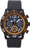 Izod Watch Unisex Chronograph Gray Leather Strap 42mm Izs61blkorange - Lyst