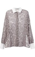 Valentino Floral Lace Shirt - Lyst