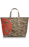 Tory Burch Canvas Zip Tote - Lyst