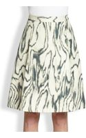 3.1 Phillip Lim Cotton Silk Woodgrainprint Skirt - Lyst