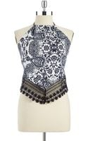 Guess Crocheted Halter Top - Lyst