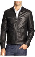 Ferragamo Quilted Leather Moto Jacket - Lyst