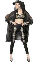 Ktz Hooded Silk Organza Coat - Lyst