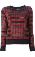 A.P.C. Striped Sweater - Lyst