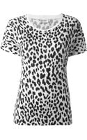 Saint Laurent Leopard Print Top - Lyst