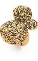 Oscar de la Renta Swirl Ring Russian Gold - Lyst