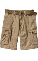 Old Navy Belted Cargo Shorts 10 12 - Lyst