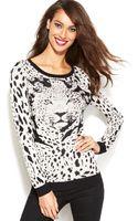 Inc International Concepts Leopard-knit Sweater - Lyst