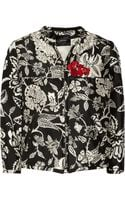 Isabel Marant Malky Embroidered Silk Poplin Bomber Jacket - Lyst