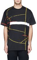 Givenchy Basketball Court Print Cotton Jersey Tshirt - Lyst