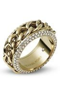 Michael Kors Pave Frozen Curb Chain Ring - Lyst