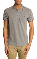 Diesel Nox Grey Polo with Trim Collar and Sleeves - Lyst