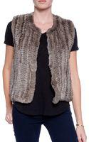 H Brand Celine Fur Vest - Lyst