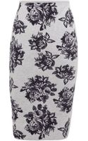 MSGM Rose Knitted Pencil Skirt - Lyst