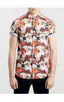 Topman Pink Rose Print Shirt - Lyst