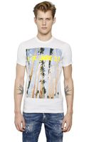 DSquared2 Palms Printed Cotton T-shirt - Lyst