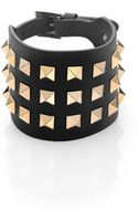 Valentino Rockstud Wide Leather Bracelet - Lyst
