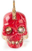 Alexander McQueen Mohican Skull Ring - Lyst