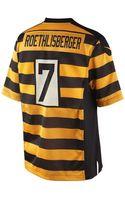 Nike Mens Ben Roethlisberger Pittsburgh Steelers Game Jersey - Lyst