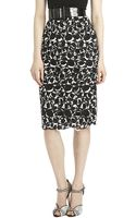 Oscar de la Renta Circle Lace Pencil Skirt - Lyst