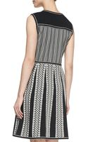 Tory Burch Monique Sleeveless Tuckstitch Cotton Dress - Lyst