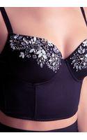 Bebe Alison Embellished Bustier - Lyst