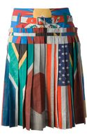 Wunderkind Flag Print Skirt - Lyst