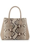 Nancy Gonzalez Small Python Crocodile Tote Bag Naturalsand - Lyst