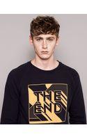 Pull&Bear Print Sweatshirt - Lyst
