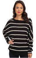 Chaser Striped Ls Dolman Top - Lyst