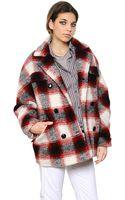 Etoile Isabel Marant Plaid Wool Blend Flannel Peacoat - Lyst