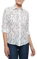 Rails Madison Star Print Blouse White - Lyst