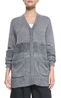 Tibi Textured Vneck Sweater - Lyst