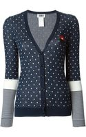 Sonia By Sonia Rykiel Dotted and Striped Cardigan - Lyst