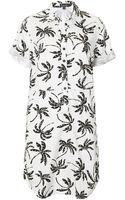 Topshop Palm Tree Print Shirt Dress - Lyst