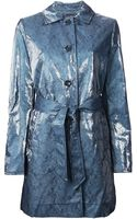 Armani Jeans Belted Trench Coat - Lyst