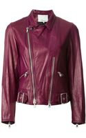 3.1 Phillip Lim Sculpted Motorcycle Jacket - Lyst