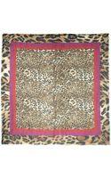 Escada Leopard Print Scarf - Lyst