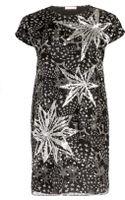 Matthew Williamson Sequin Star Print Organza Shift Dress - Lyst
