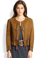 Ralph Lauren Blue Label Leather Casmalia Jacket - Lyst
