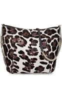 Jimmy Choo Anabel Leopardprint Calf Hair Crossbody Bag Gray - Lyst
