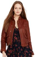 Polo Ralph Lauren Leather Moto Jacket - Lyst