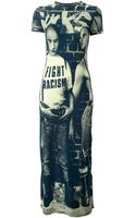Jean Paul Gaultier Fight Racism Print Maxi Dress - Lyst