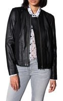 Helmut Lang Combo Leather Jacket - Lyst